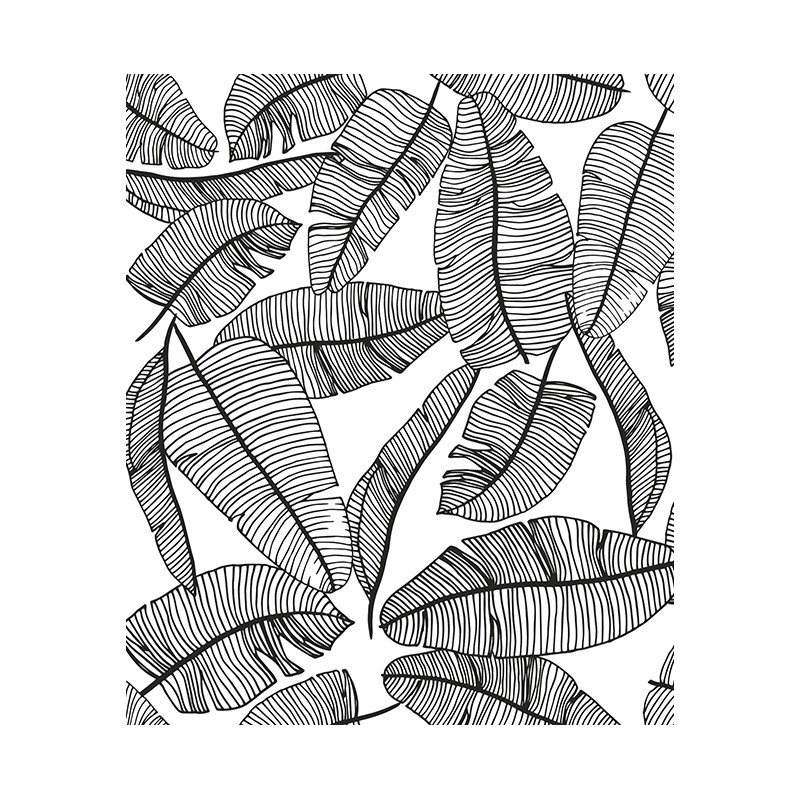 papier peint enfant feuillage tropical lilipinso. Black Bedroom Furniture Sets. Home Design Ideas