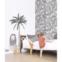 Sticker XL arbre et lion Lilipinso