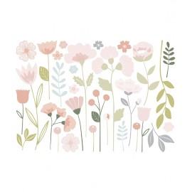 Stickers XL fleurs et tiges Lilipinso