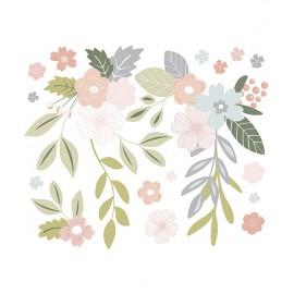 Stickers xl fleurs en grappes Lilipinso