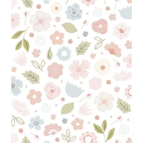 Papier peint fille fleurs bloom Lilipinso