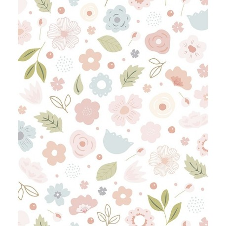 Papier peint fille fleurs bloom lilipinso - Papier peint chambre bebe fille ...