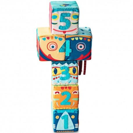 Set de 6 cubes totem Lilliputiens