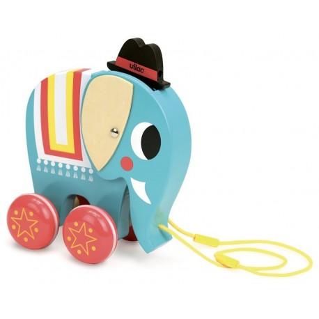 Vito l'éléphant à trainer Ingela P. Arrhenius Vilac