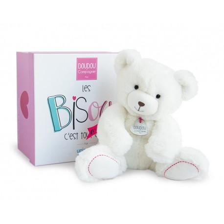 peluche unicef ours blanc doudou et compagnie dc3243. Black Bedroom Furniture Sets. Home Design Ideas