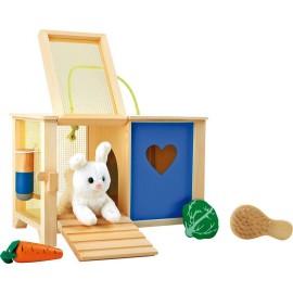 Clapier en bois avec lapin Legler