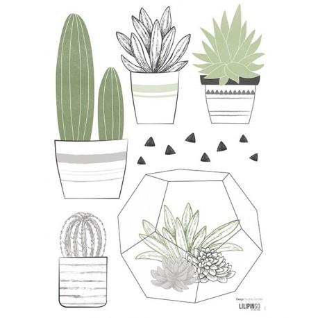 Stickers cactus en pots Lilipinso