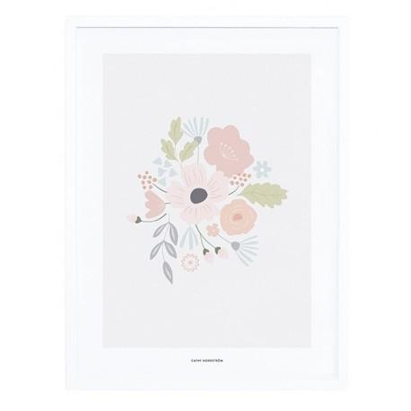 Affiche avec cadre fleurs Lilipinso