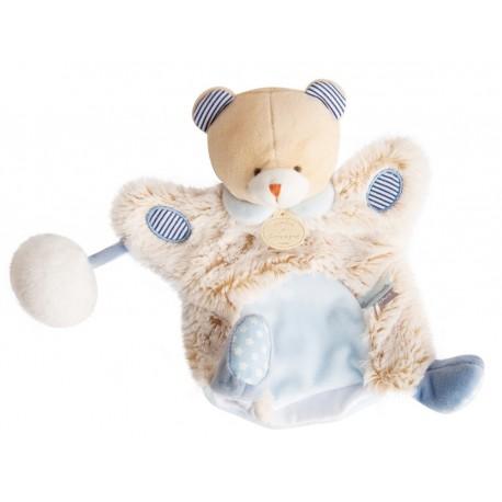 Doudou marionnette Hippo Lovely Pistache Doudou et Compagnie