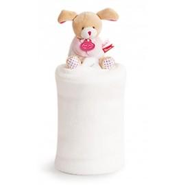 Plaid chien Lovely fraise Doudou et compagnie