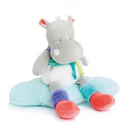 Hippo pantin Tropi'cool Doudou & Compagnie (55cm)