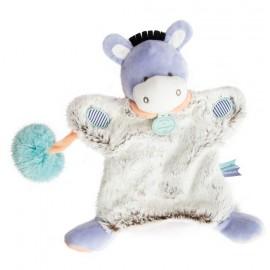 Doudou marionnette Ane Lovely Pistache Doudou et Compagnie