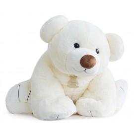 Peluche ours géant Ecru 90cm Histoire d'Ours
