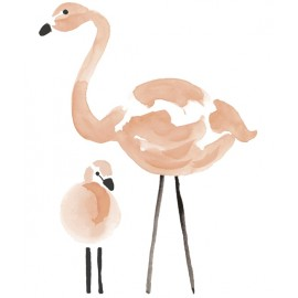Sticker Flamant rose Lilipinso