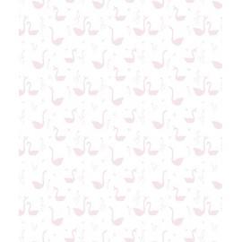 Papier peint Cygnes roses Lilipinso
