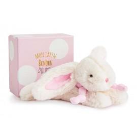 Doudou Lapin bonbon rose petit modèle Doudou et Compagnie