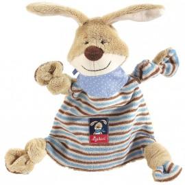 Doudou plat lapin beige/bleu Semmel Bunny Sigikid
