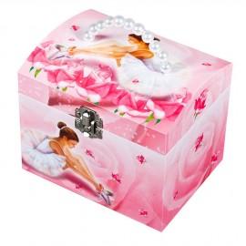 Grande Malle à Bijoux Musicale Ballerine Rose par Trousselier