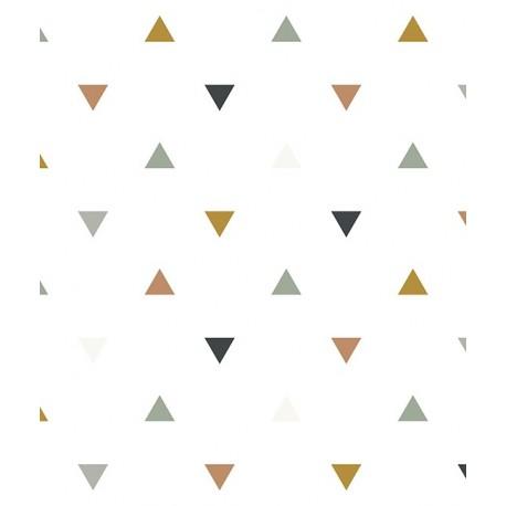 Papier Peint Geometrique Triangles Bleus Gris Beiges Lilipinso