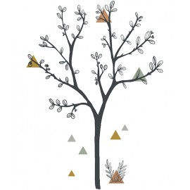 Sticker xl arbre et triangles Lilipinso