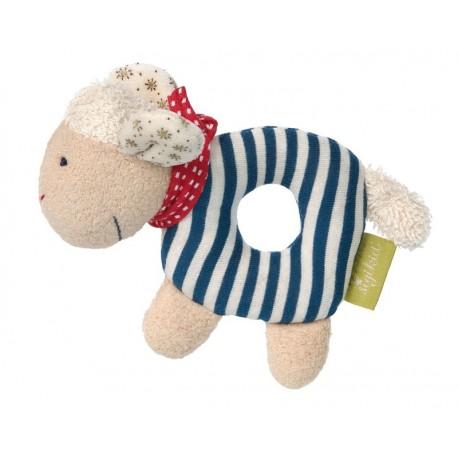 Doudou hochet mouton coton bio Sigikid