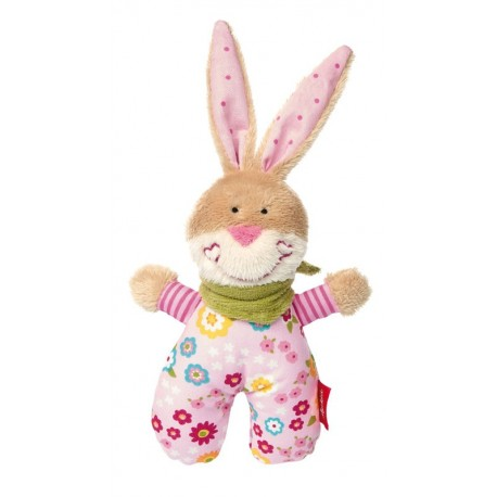 Hochet lapin rose Bungee Bunny Sigikid
