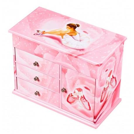 Grande boîte à bijoux musicale Ballerine rose Trousselier