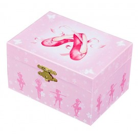 Coffret Musical Chaussons Ballerine rose Trousselier