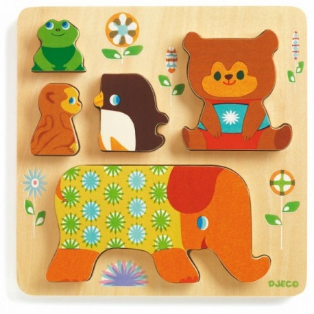 Puzzle en relief Woodypile Djeco