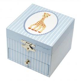 Boite à Musique Cube Sophie La Girafe Bleu clair