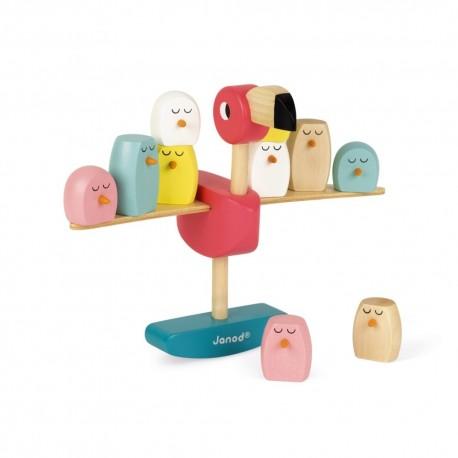 jouet en bois équilibre Flamant Rose Janod