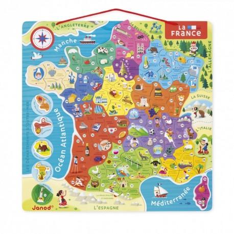 Puzzle Carte de France Magnétique Janod
