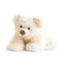 Peluche ours Pat'ours blanc Histoire d'Ours