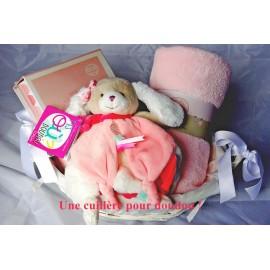 Panier de naissance chien Tatoo rose