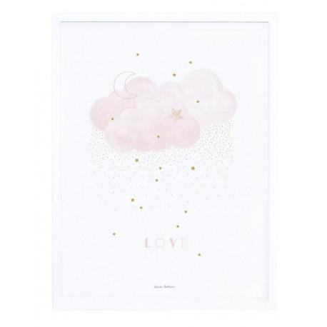 Affiche encadrée love rose Lilipinso