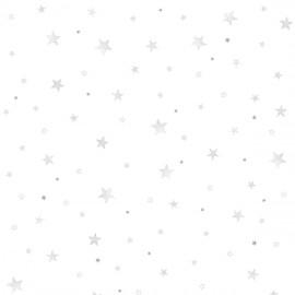 Papier peint étoiles grises Lilipinso