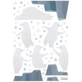 Stickers Ours, neiges et étoiles Lilipinso