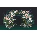 Papier peint décor mural fleuri Lilipinso