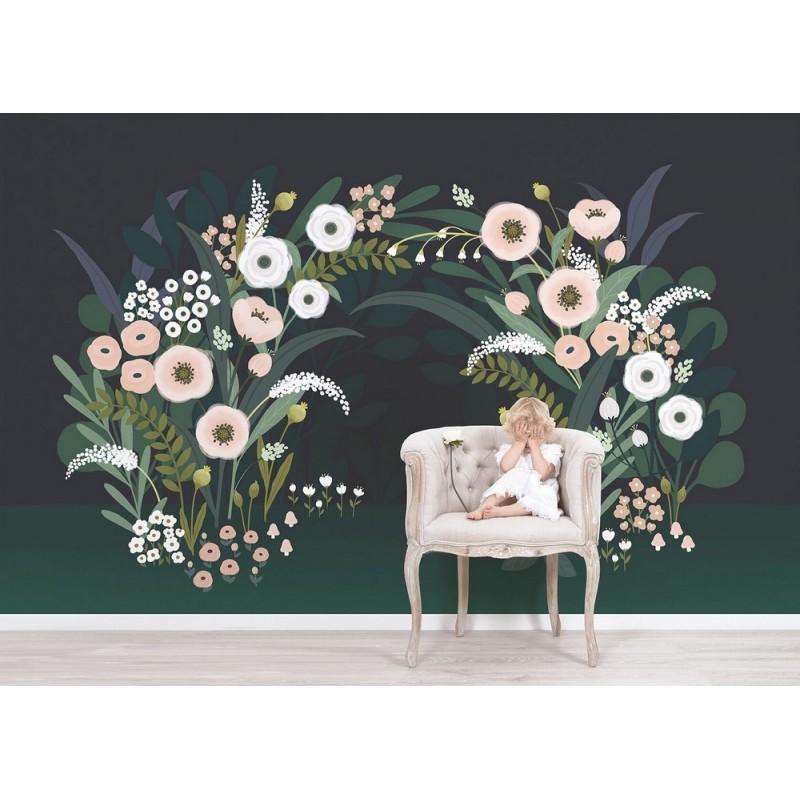 Papier Peint Decor Mural Fleuris Lilipinso H0537