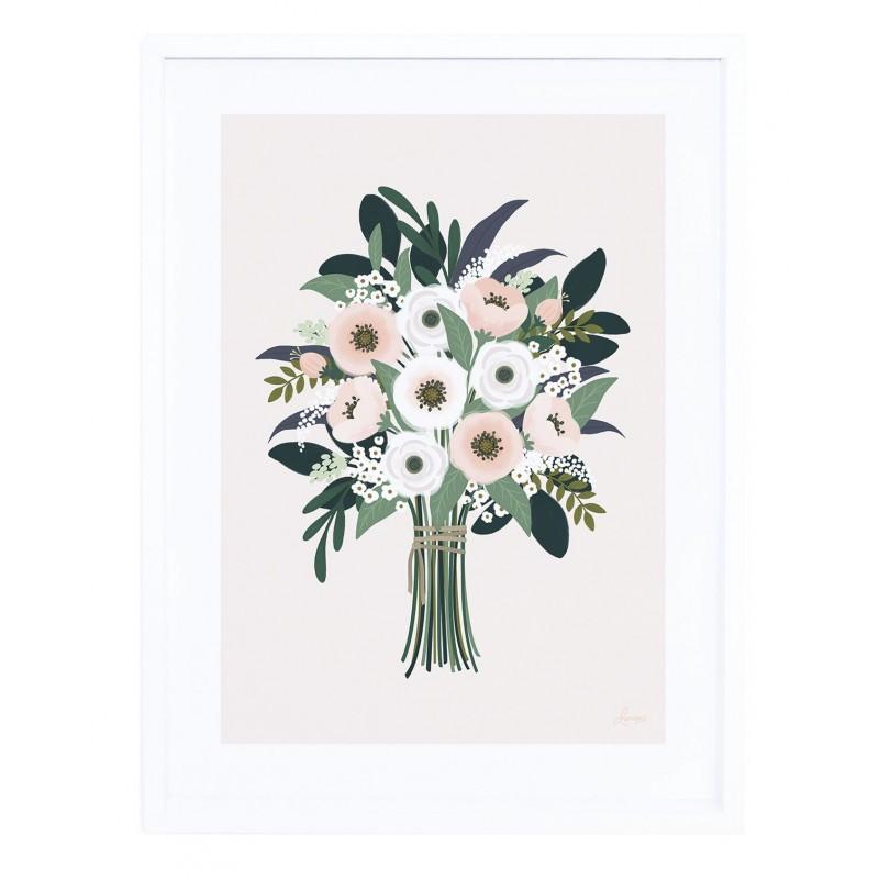 affiche chambre fille joli bouquet de fleurs lilipinso p0283c. Black Bedroom Furniture Sets. Home Design Ideas