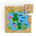 Cubes en bois animaux Vilac (9 pièces)