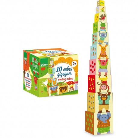 Cubes gigognes Mélusine en carton Vilac