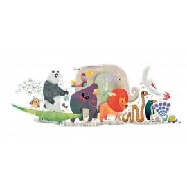 Puzzle géant la parade des animaux Djeco