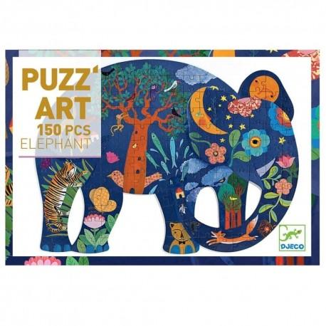 Puzzle Elephant Puzz'art 150 pièces Djeco