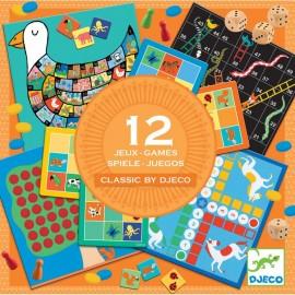Coffret 12 jeux classiques Classic box 4+ Djeco