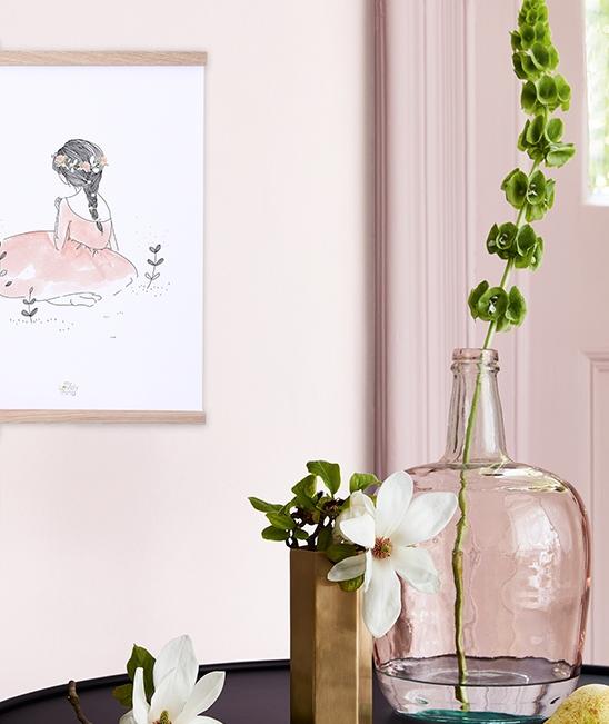 affiche chambre d39enfant fillette romantique lilipinso With affiche chambre bébé avec vente fleurs par correspondance